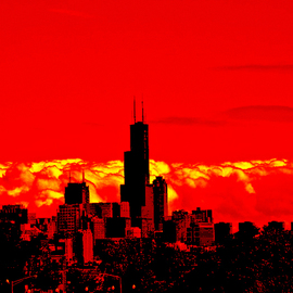 Red Skyline Chicago