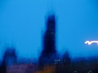 Artist: Nancy Bechtol - Title: Sears Tower fast glance - Medium: Color Photograph - Year: 2008