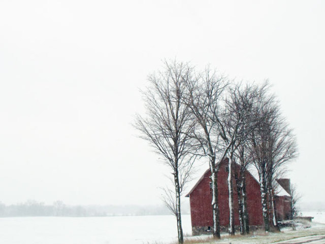 Nancy Bechtol  'Snow Barn', created in 2008, Original Photography Mixed Media.