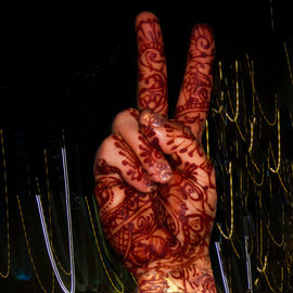 Nancy Bechtol: 'Summer Solstice Peace', 2010 Color Photograph, Peace. Artist Description: hindu, peace, solstice, summmer solstice, henna hand, ...