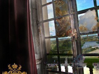 Photography by Nancy Bechtol titled: VersailleWindowTimeView, created in 2009