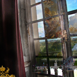Nancy Bechtol: 'VersailleWindowTimeView', 2009 Other Photography, Abstract Landscape. Artist Description:  View from the window of the Palace of Versailles, France, and also my mind's eye ...