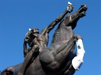 Nancy Bechtol: 'White Sox Win Native American Sculpture', 2006 Other Photography, Inspirational.  Inspired by the White Sox win in Chicago, even the public sculptures were part of the celebration. ...
