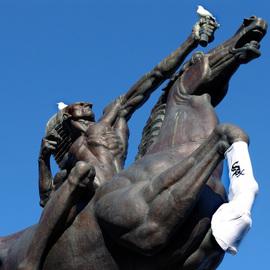 White Sox Win Native American Sculpture