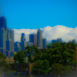 chicagocloudskyline By Nancy Bechtol
