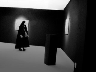Nancy Bechtol Artwork man in bw room, 2009 Other Photography, Abstract Figurative