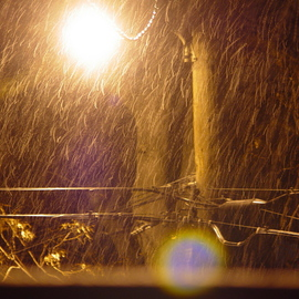 Nancy Bechtol: 'more alleyrain', 2006 Other Photography, Abstract Landscape. Artist Description:  rain and alley light ...