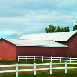 Nancy Bechtol: 'red barn', 2010 Other Photography, Farm. Artist Description: intense people, vibrantMichigan beautiful old barn in high end color late afternoon. Photography, color enhanced, manipulated. ...