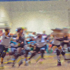 Nancy Bechtol: 'roller derby rocks', 2010 Other Photography, Abstract Figurative. Artist Description: roller derby, Chicago, sports, figures, women roller derby art, Nancy Bechtol, ...