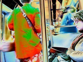 Nancy Bechtol Artwork subway gals, 2010 Other Photography, Psychedelic
