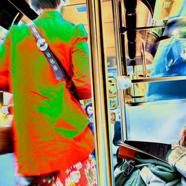 Nancy Bechtol: 'subway gals', 2010 Other Photography, Psychedelic. Artist Description:  intense people, vibrant ...