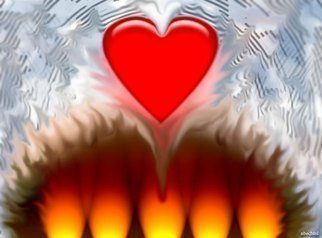 Color Photograph by Nancy Bechtol titled: warm hearts, created in 2009