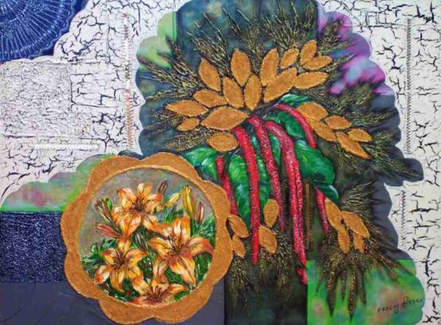 Artist Nancy Frazer. 'Spring Bouquet' Artwork Image, Created in 2007, Original Mixed Media. #art #artist