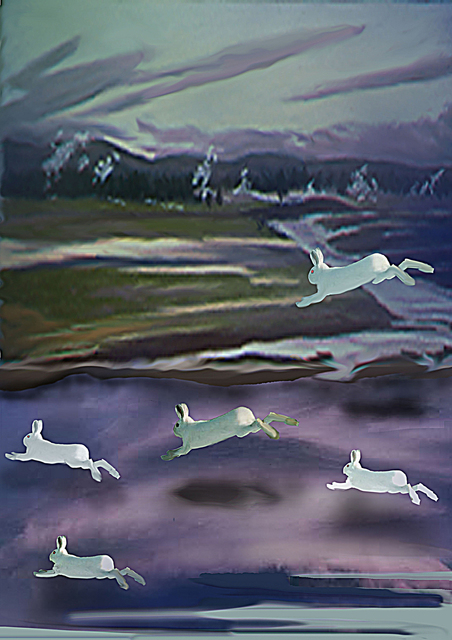 Nancy Ungar  'Apocalyptic Leap', created in 2011, Original Digital Art.