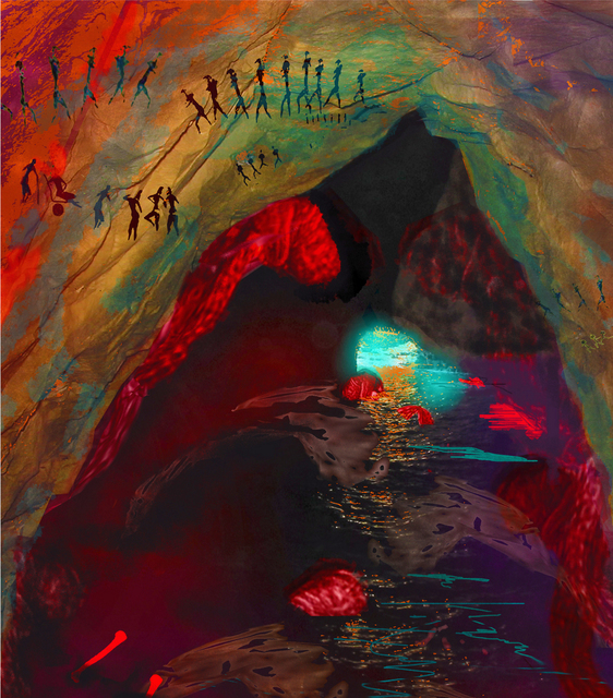 Nancy Ungar  'Out Of The Cave', created in 2011, Original Digital Art.