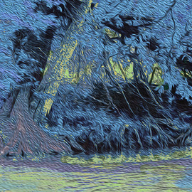 Nancy Wood: 'Guadalupe River Blue', 2013 Other Photography, Travel. Artist Description:    Digital Photo on Canvas   ...