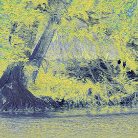 Nancy Wood: 'Guadalupe River Light', 2013 Other Photography, Travel. Artist Description:        Digital Photo on Canvas       ...