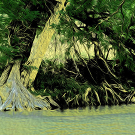 Nancy Wood: 'Guadalupe River Paint', 2013 Other Photography, Travel. Artist Description:     Digital Photo on Canvas    ...