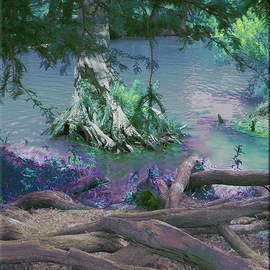 Nancy Wood: 'River 2 Vertical', 2013 Other Photography, Travel. Artist Description:       Digital Photo on Canvas      ...