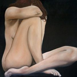 Fernando Pizzani: 'Westons Girl after Edward Weston ', 2006 Oil Painting, nudes. Artist Description:   female nude oil  ...