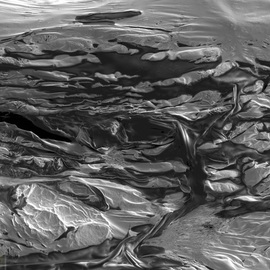 Cris Orfescu: 'Igneous Rocks No1', 2012 Other Sculpture, Abstract Landscape. Artist Description:  Nanolandscape: colloidal graphite dried on a substrate and visualized with a scanning electron microscope ( courtesy of Applied Analytical Sciences in Costa Mesa, California) . The image was captured in a computer and printed on Epson Ultra Premium Photo Paper Luster with archival inks specially formulated to last for a ...