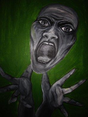 Artist: Naomi Watts - Title: Scream - Medium: Acrylic Painting - Year: 2011