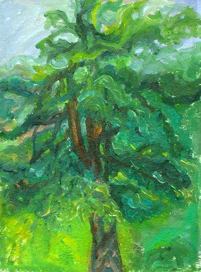 Artist: Zsuzsa Naszodi - Title: Dancing tree - Medium: Oil Painting - Year: 2007