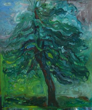 Artist: Zsuzsa Naszodi - Title: Lonely tree in NY - Medium: Oil Painting - Year: 2007