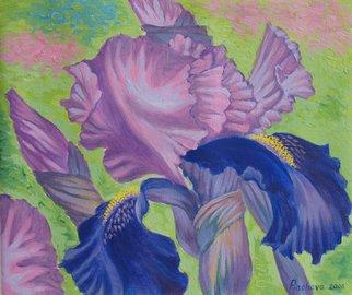 Piacheva Natalia Artwork Iris, 2006 Oil Pastel, Floral