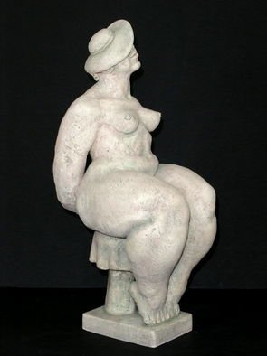 Ceramic Sculpture by Natalia Shapira titled: Smiling  18,5X7X10, created in 2002
