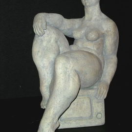 Natalia Shapira: 'TV13,5X11X6,5', 2002 Ceramic Sculpture, Figurative. Artist Description:      Classic Sculpture     ...