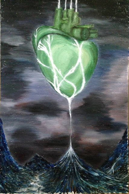 Natalia Verba  'Human Heart Is A Factory Recycling Tears Of God', created in 2015, Original Painting Oil.