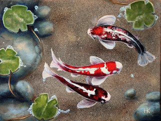 Nataly Kartseva: 'koi', 2018 Oil Painting, Fish. Artist Description: Koi carp...