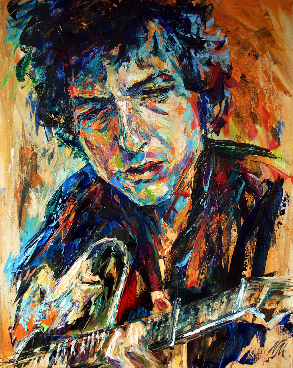 Natasha mylius artwork bob dylan original painting for Painting for sale by artist