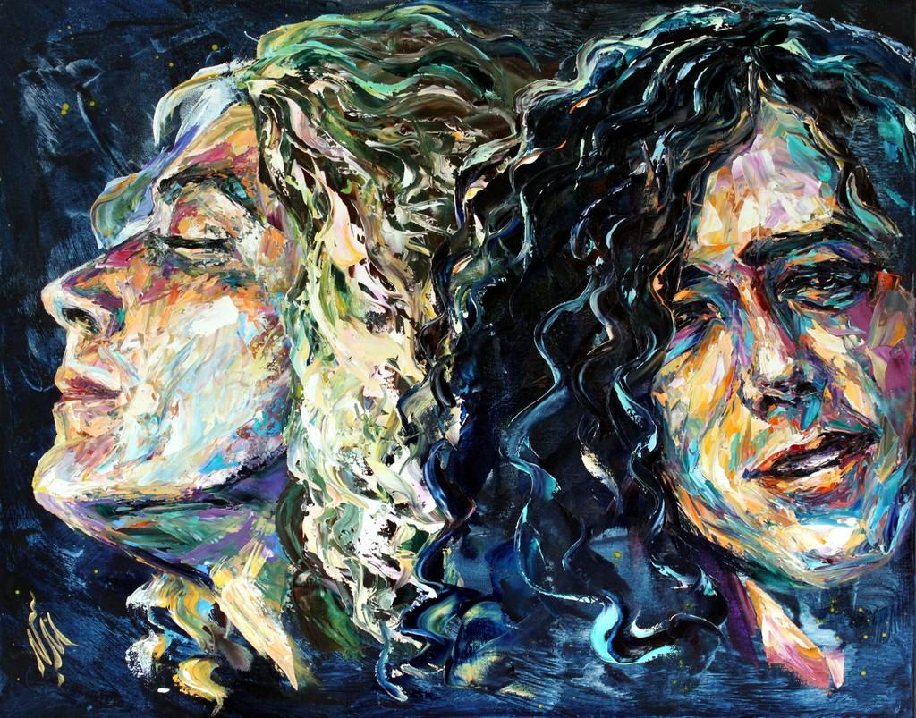 Natasha Mylius Artwork Led Zeppelin Original Painting Oil Portrait Art