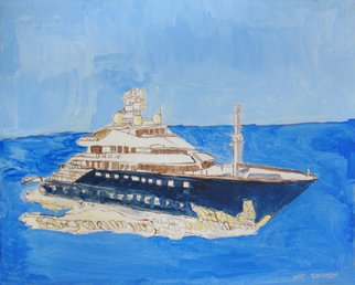 Nat Solomon: 'Nats Dreamy Luxury Boat', 2011 Mixed Media, Sailing.  Seascape, Nautical, Luxury boat ...