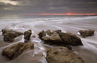 Artist: Dennis Chamberlain - Title: El Matador Beach - Medium: Color Photograph - Year: 2009