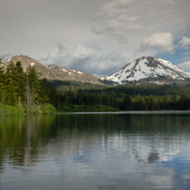 Mt  Lassen at Manzanita Lake