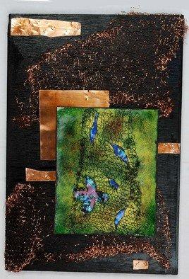Nayna Shriyan Artwork Netted Leaves, 2008 Vitreous Enameling, Representational