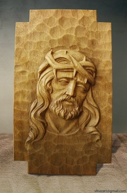 Nazar Havrulyik Artwork Jesus, 2016 Wood Sculpture, Biblical