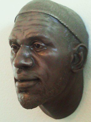 Bronze Sculpture by Nebel Luccion titled: LeBron James Bronze Resin Sculpture, created in 2014
