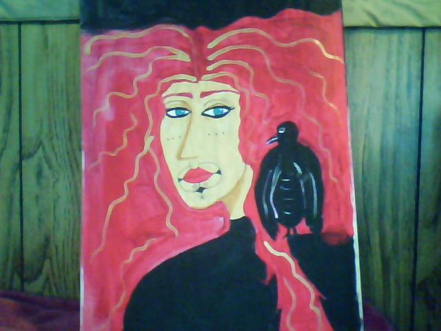 Mercedes Morgana Reyes  'Vali', created in 2011, Original Painting Acrylic.