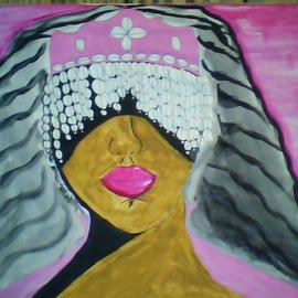 Mercedes Morgana Reyes: 'Yewa', 2011 Acrylic Painting, Ethereal. Artist Description:  This painting depicts the Yoruba goddess of death  ...