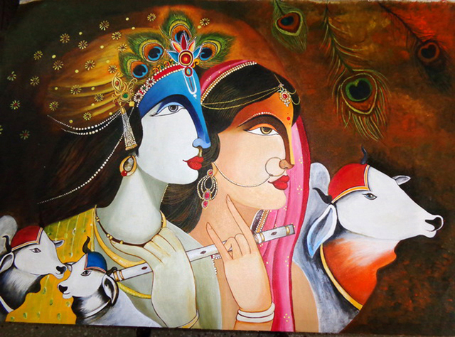 Neeraj Parswal  LordKrishna and Radha 2014