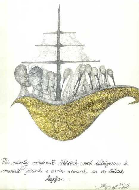Beata Balogova  'Ship Of Fools', created in 2008, Original Drawing Other.