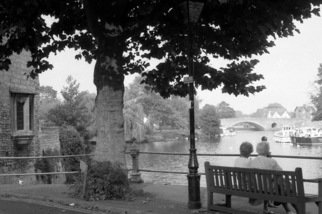 Neil Howe: 'On the Thames', 1993 Black and White Photograph, Landscape. Artist Description:  Oxford, England          ...