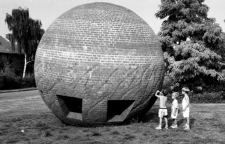 Neil Howe: 'The Brick Ball', 1993 Black and White Photograph, Children. Artist Description:  The Netherlands       ...