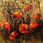 poppies in gold By Nelu Gradeanu