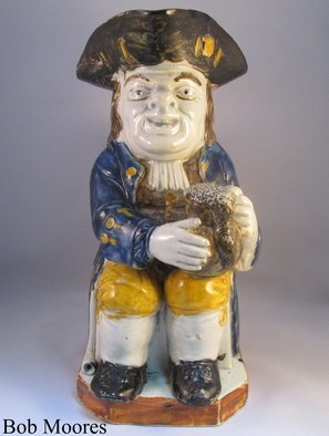 Nestegg Antiques: 'nestegg antiques', 2018 Other Ceramics, . Artist Description: Specialize in early English antique pottery dated 1740- 1840 that includes antique toby jugs, salt glazed stoneware pottery, English delft, creamware, pearlware, Staffordshire pottery figures. ...