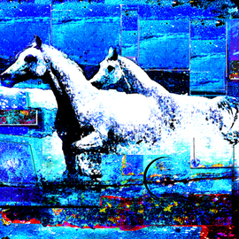 Horses from the azure